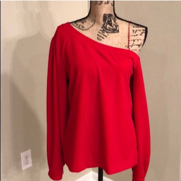 Banana republic red off the shoulder shirt